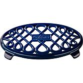 "La Cuisine 10"" x 7"" Oval Cast Iron Trivet - Blue"