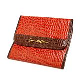 Samantha Brown Croco-Embossed Tri-Fold Bag