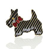 "Heidi Daus ""Great Scot"" Crystal-Accented Enamel Dog Pin"
