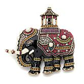 "Heidi Daus ""Queen of Siam"" Elephant-Design Enamel Pin"