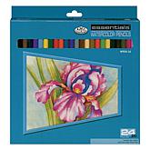 24 Assorted Watercolor Pencils