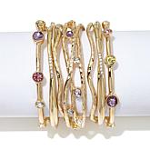 "R.J. Graziano ""Glow On"" 7pc Crystal Bangle Bracelet Set"