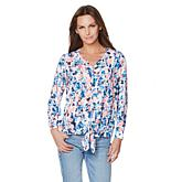 G by Giuliana Perfectly Mad Tie-Front Blouse