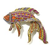 "Heidi Daus ""Little Fish, Big Style"" Crystal Pin"