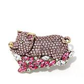 "Heidi Daus ""Pink Lady"" Crystal Pin"