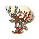 "Heidi Daus ""Seaside Splendor"" Enamel and Crystal Pin"
