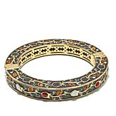 "Heidi Daus ""Message in a Bracelet"" Hinged Bangle"