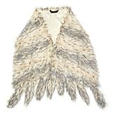 A by Adrienne Landau Faux Fur Readers Wrap with Tails