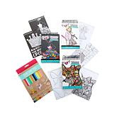 Fashion Angels Pocket Coloring Notebooks +Color Pencils