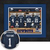 Officially Licensed NFL Personalized Framed Locker Room Print