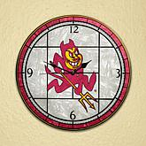 NCAA Glass Art Wall Clock-Colleges A-L
