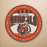 NFL Art Glass Wall Clock