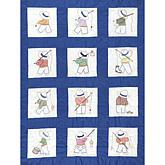 Stamped White Nursery Quilt Blocks 9-inch x 9-inch 12-pack