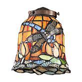 "6"" Tiffany Glass Shade - Dragonfly"