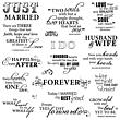 Quote Clear Stamps - Just Married