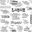 Quote Clear Stamps - Laugh With Me