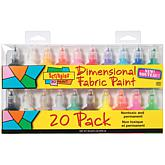 Tulip Scribbles 3D Fabric Paint - 20 Pack