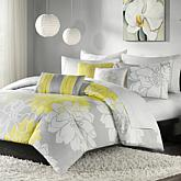 Madison Park Lola Duvet Set Gray/Yellow