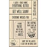 Inkadinkado 9pc Card Making Mounted Stamp Set-Get Well