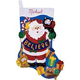 "Believe 17"" Stocking Felt Applique Kit"