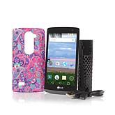 """LG Sunset 4.5"""" 4G LTE Android 5.0 TracFone Bundle with 1200 Minutes/Texts/Data + Portable Charger"""