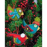 Simple Ornaments Felt Applique Kit - Set Of 3