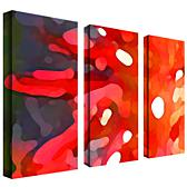 "Amy Vangsgard ""Red Sun"" 3-Panel, Giclée-Print Set"