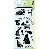 "Inkadinkado 4"" x 8"" Sheet of Clear Stamps - Dogs"