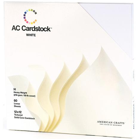 "American Crafts 12"" x 12"" Cardstock Pack - White"