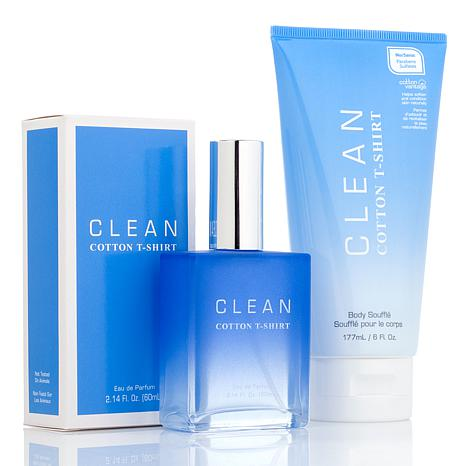 CLEAN Cotton T-Shirt 2-piece Fragrance Set