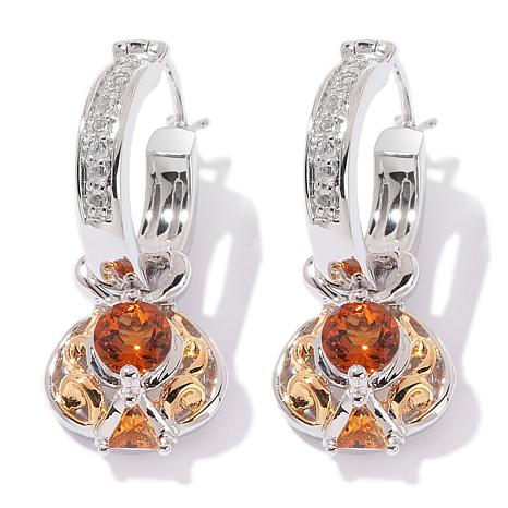 Victoria Wieck .93ct Fire Citrine White Topaz Earrings