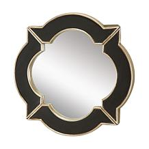 "16"" Lilliput Black and Gold Mirror"