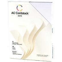 "American Crafts 8-1/2"" x 11"" Cardstock Pack - White"