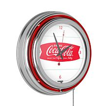 "Coca-Cola ""Refreshing Feeling"" Retro Neon Clock"
