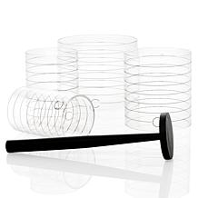 Curtis Stone 5-piece Acrylic Presentation Ring Set