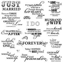 Fiskars Quote Clear Stamps - Just Married