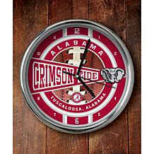 NCAA Chrome Clock - Alabama