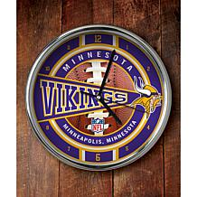 NFL Chrome Clock - Vikings