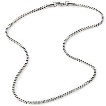 Stately Steel 2.5mm Box-Link Chain Necklace