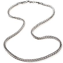 "Stately Steel 4mm 20"" Square Wheat-Link Chain"