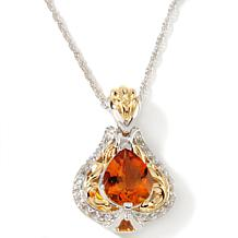 Victoria Wieck Citrine and Topaz Pendant with Chain