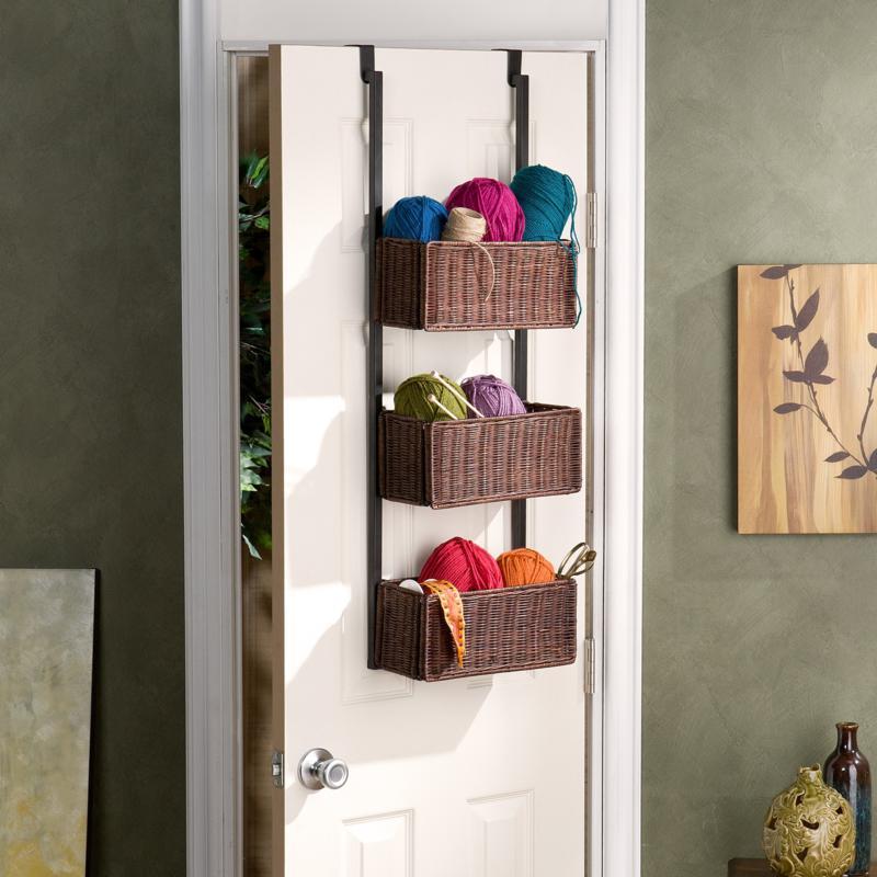 Over-The Door 3 Tier Storage Basket at HSN.